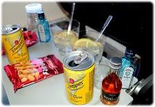 Priser på drinks i fly