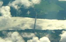 Den gamle Lillebæltsbro set fra luften
