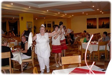 Kitch folklore on Kristal Hotel. Golden Sands